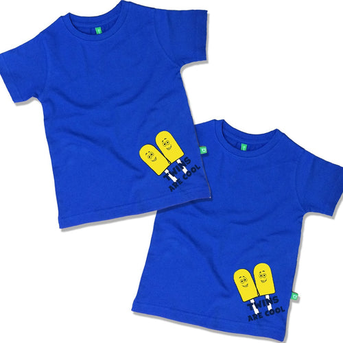 Twins Are Cool Combo Tee For Twins