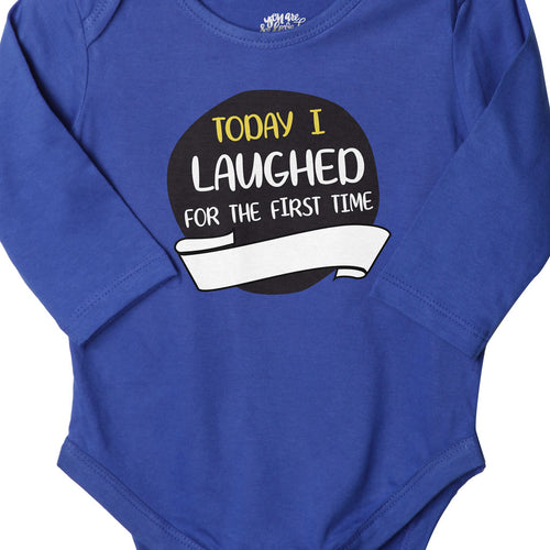Today I Laughed For The First Time (Blue), Bodysuit For Baby