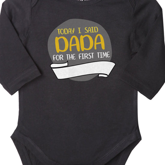 Today I Said Dada (Black), Bodysuit For Baby