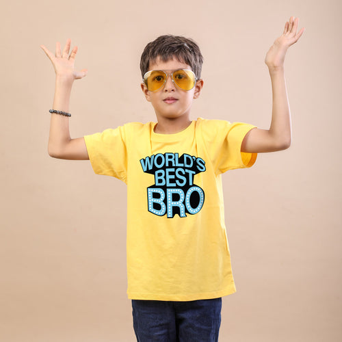 World's Best Bro Tees For Brother