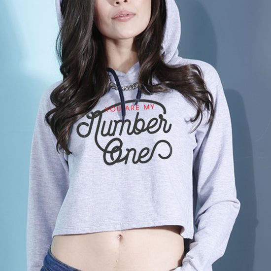 You Are My Number One Crop Hoodie