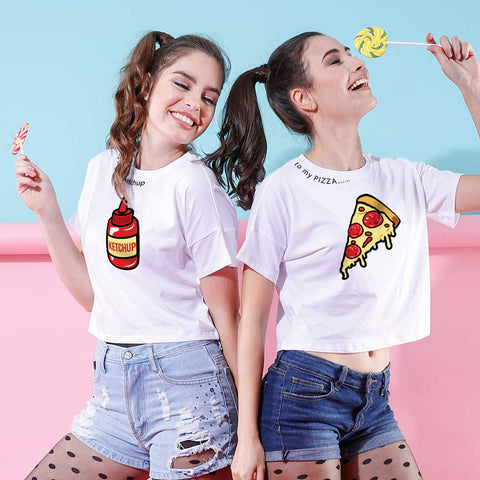 Ketchup To My Pizza, Crop Tops For Bffs