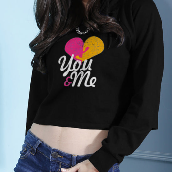 You and Me Crop Hoodie