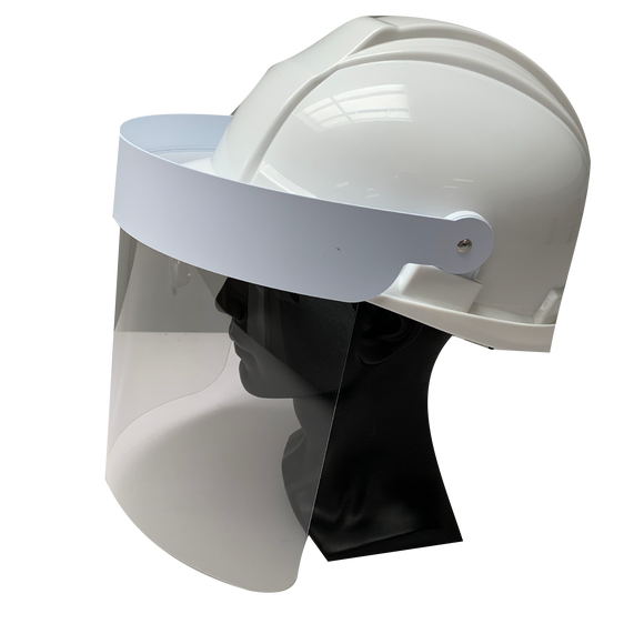Hard Hat Splatter Visor - (Hat Included)
