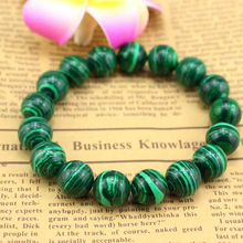 Load image into Gallery viewer, Feng Shui Malachite Green Eye Bracelet
