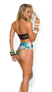 Luxury bikini pant with exclusive and patented zebra design. African Safari Inspired.