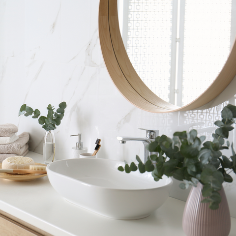 Decorate with Eucalyptus for your at-home spa day