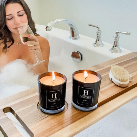 spa day with Hotel Collection Dream On spa candles