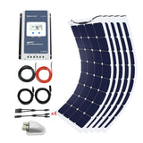 550 Watt Solar Flexible Kit w/ 40A MPPT Charge Controller (5x110W)
