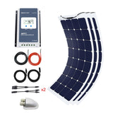 330 Watt Solar Flexible Kit w/ 40A MPPT Charge Controller (3x110W)