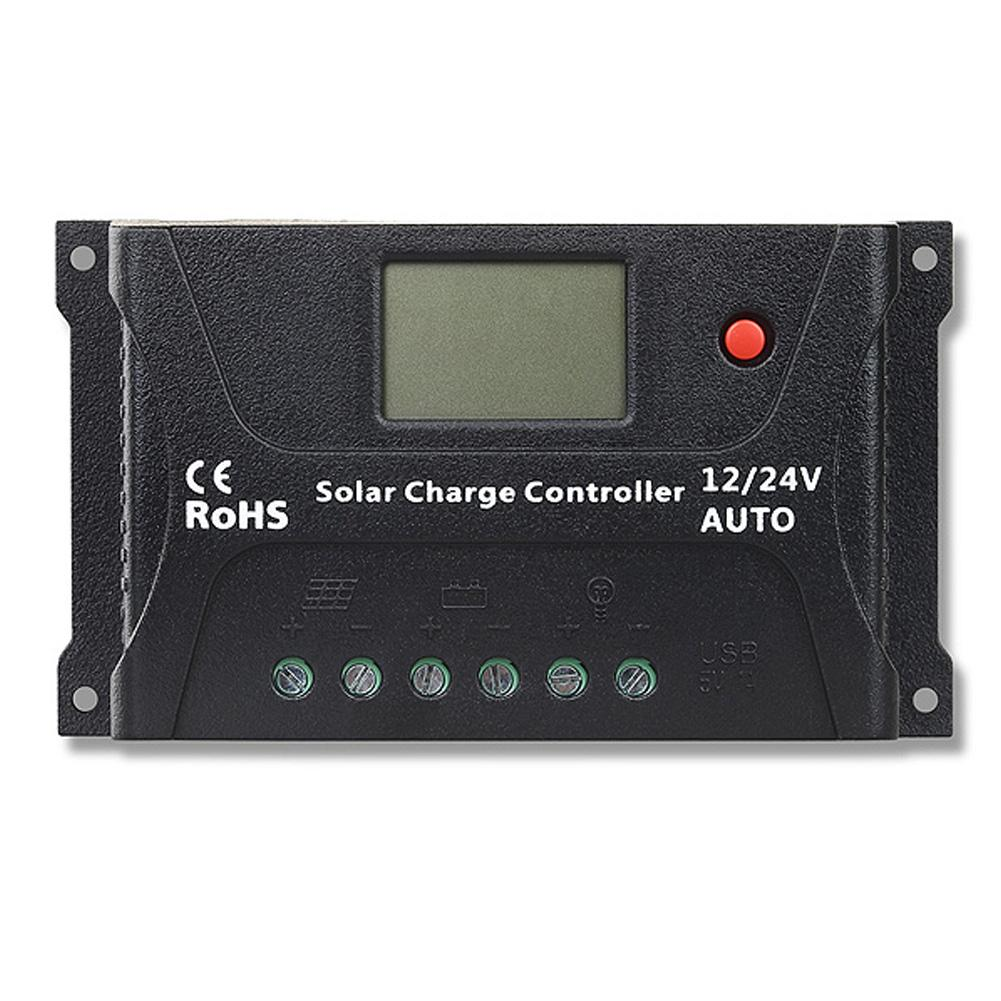 20A PWM Solar Charge Controller for 12V/24V Batteries