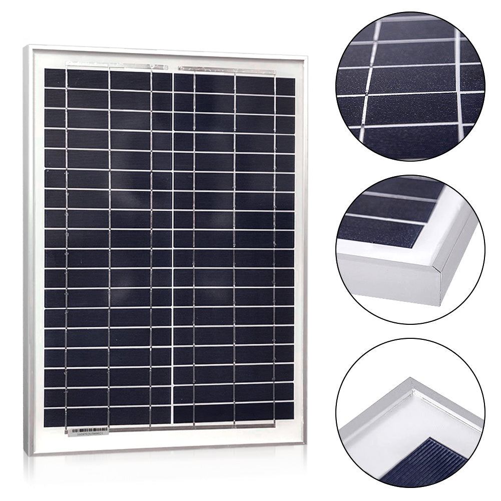20W Polycrystalline Solar Charger for 12V Battery Charging