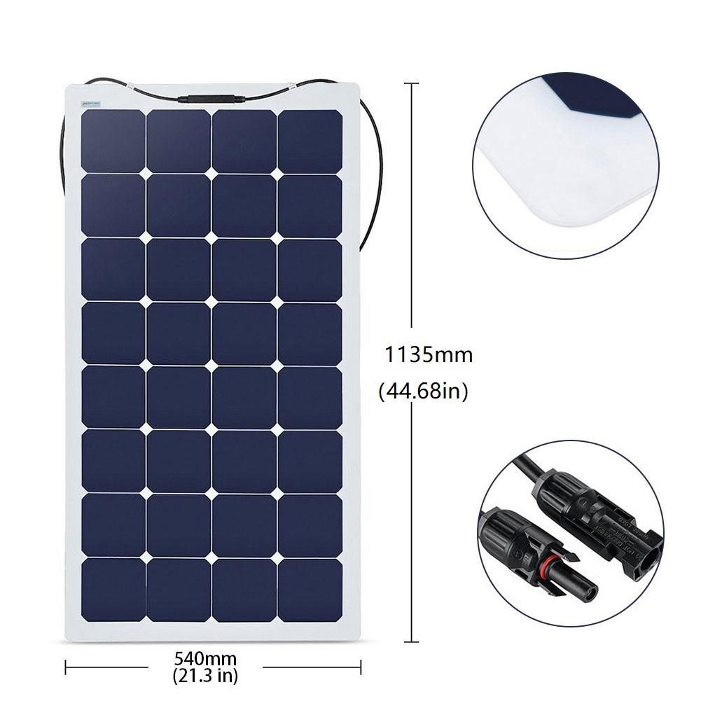 440W 4PCS 110 Watt 12 Volt Flexible Monocrystalline Solar Panel (4 Pack)