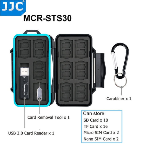 JJC Water-Resistant Camera Memory Card Storage