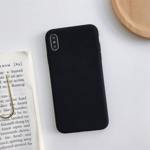 Silicone Solid Color Case for iPhone