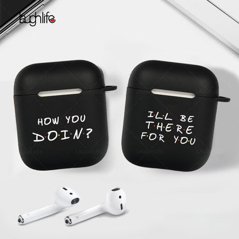 Image of TV Friends Girls Earphone Case For Apple Air pods 2 Charging Box Case For AirPods 2 1 Hard Black Protective Cover Accessories