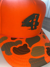Load image into Gallery viewer, 4Tone Orange Camo Trucker Hat