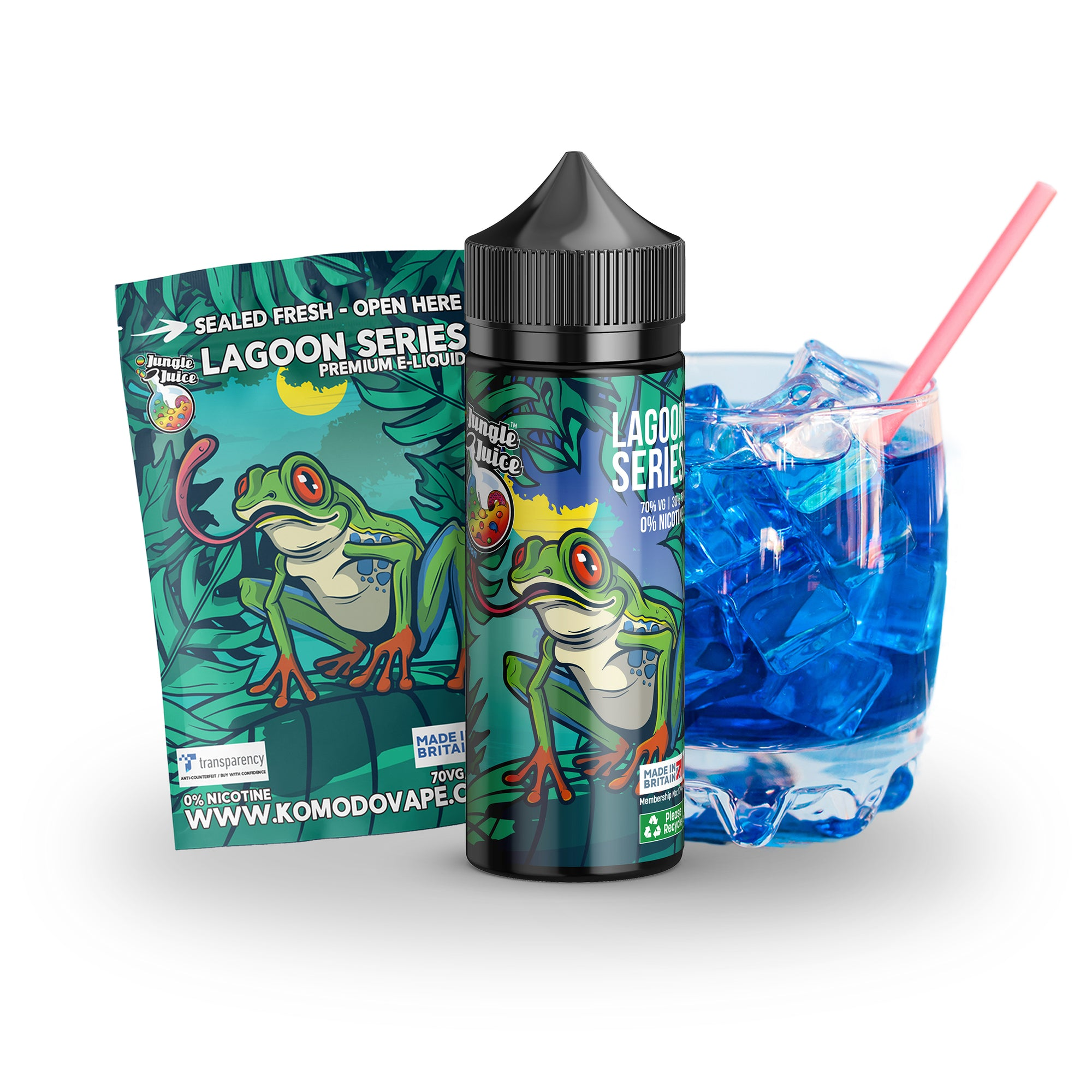 Jungle Juice Blue Lagoon 100ml shortfill eliquid