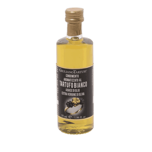 EXTRA VIRGIN OLIVE OIL WITH WHITE TRUFFLE SLICES