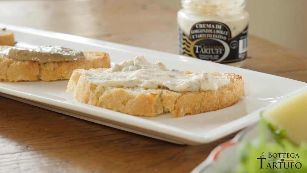 Load image into Gallery viewer, bruschetta with truffle cream
