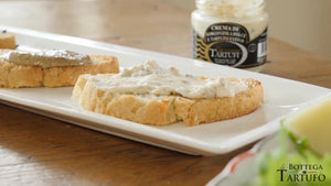 bruschetta with truffle cream
