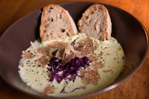 cheese with truffle cream
