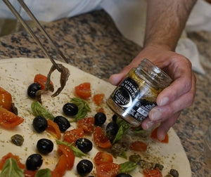 truffle anchovies on pizza