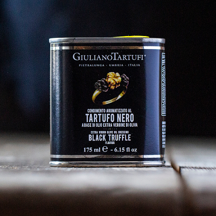 tin of italian black truffle extra virgin olive oil
