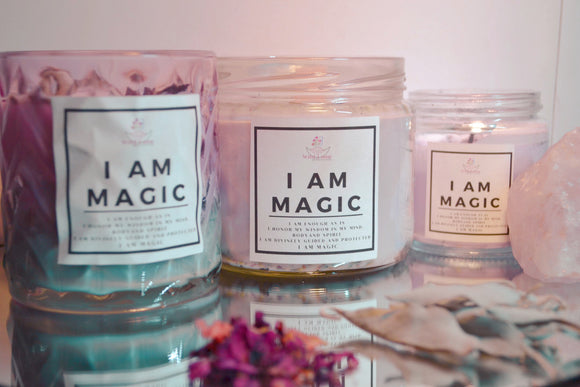 I am Magic Affirmation Candle. Wild Luna Botanicals