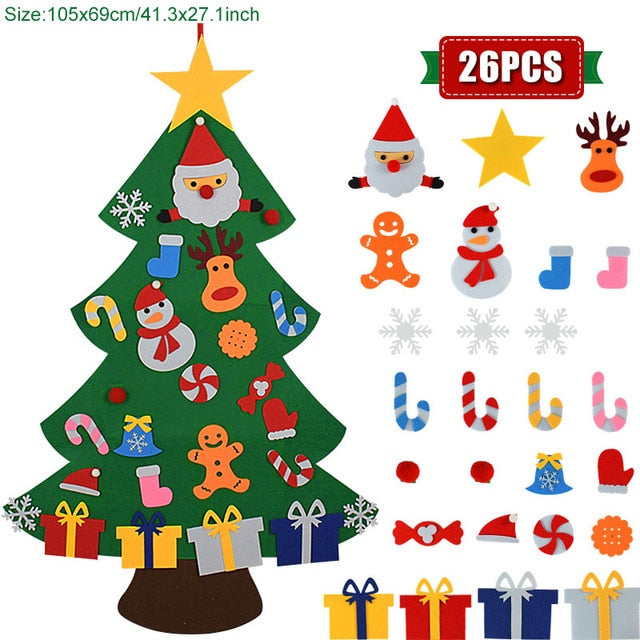 kids Christmas Tree Christmas Decoration for Home Navidad 2021 New Year Gifts