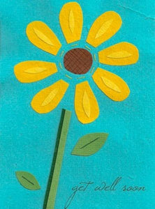 Soothing Sunflower Greeting Card