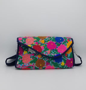 Flora Envelope Bag - bright flowers