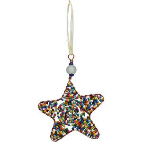 Beaded Star-Rainbow