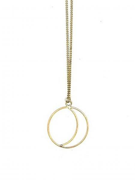 Simple Night Necklace-Brass