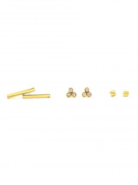 Mini Stud Set-Brass