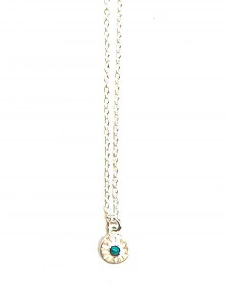 Turquoise Starburst Necklace-Sterling Silver