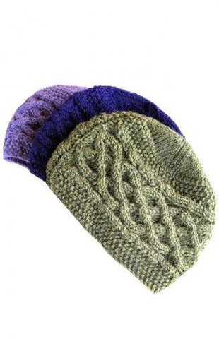 Cable Knit Wool Beanie, Lined