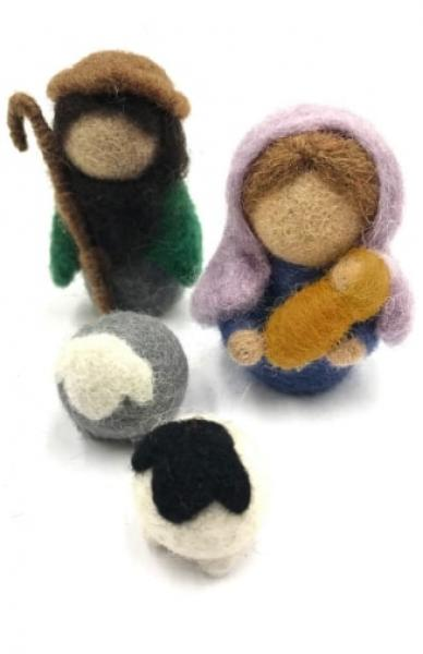 Felted Nativity Set