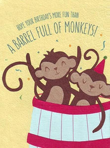 Barrel of Monkeys Card