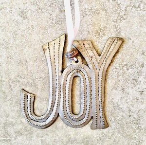 Metal Joy Ornament