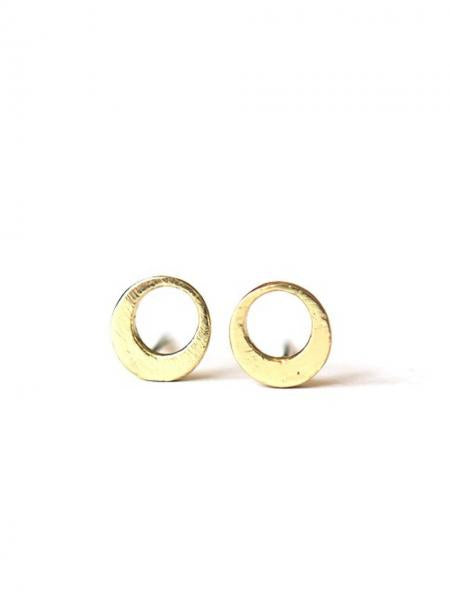 Orbit Stud Earrings - Brass