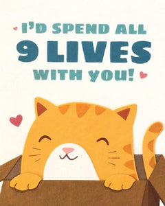Nine Lives Love Card