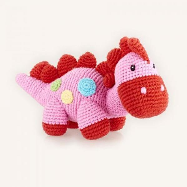 Dino Rattle - Pink