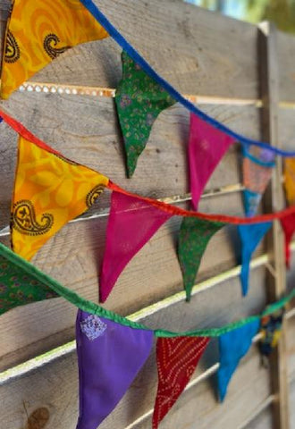Recycled Sari Garland