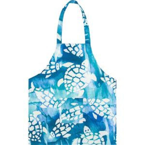 Apron Kids Fishy Turtles Teal