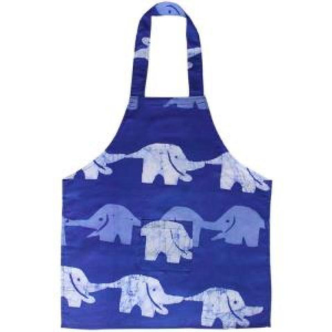Blueberry Elephants Kids Apron