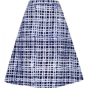 Volta Skirt - Plaid - Navy