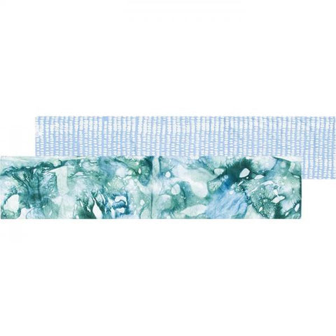 Table Runner - Long Watercolor Olive