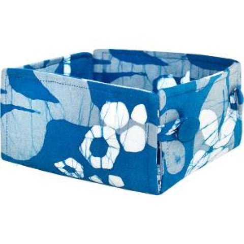 Button Basket Marina Indigo-Small