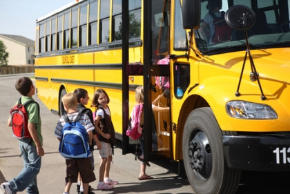Kids and School Buses